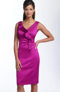 Donna Ricco Ruffle Sheath Dress