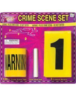 Piece Halloween Decoration Police CSI Crime Scene Kit
