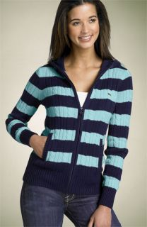 Lacoste Stripe Cabled Cardigan