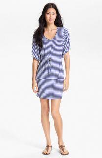 Calvin Klein Blouson Sleeve Stripe Jersey Dress