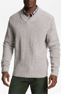 Cutter & Buck Northlands V Neck Wool Blend Sweater