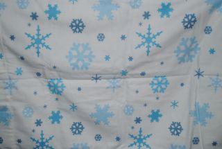 Flannel Twin Sheet Set Dan River Snowflakes Heavyweight