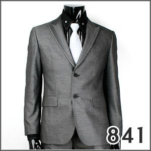 JEJE Slim Fit Dark Gray Mens Suits Jacket Pants US 40R
