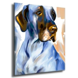 Great Dane Dog Portrait Original Painting Canvas Fine Art Giclee Print