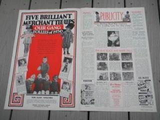 Our Gang RARE Original Pressbook Follies of 1936 Spanky Alfalfa