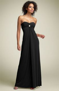 Mary L Couture Rhinestone Strapless Gown