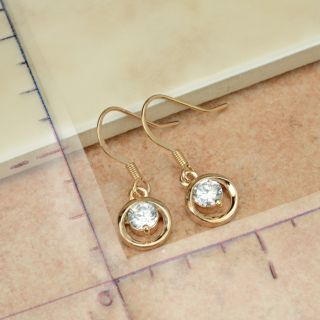 65071 Elegant Swarovski Crystal 18K Rose Gold GP Dangle Earring