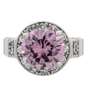 Round Cut Pink Sapphire Topaz Ring Women Dress Jewelry 7 O 1009PIN7