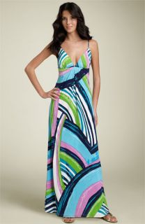 Julie Brown Silk Maxi Dress