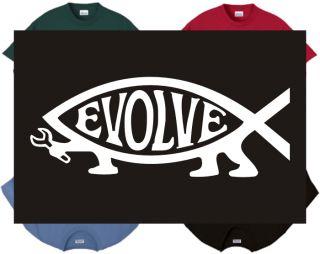 Shirt Tank Darwin Fish 3 Evolution Evolve