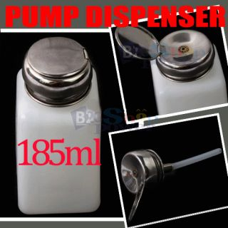 Pro Pump Dispenser Nail Art Acetone Polish Remover 185ml Tool