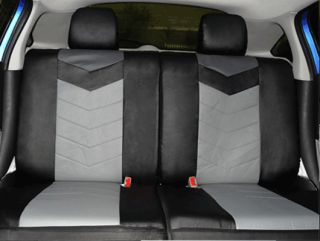 Synthetic Leather Semi   Custom Car Seat Covers 50 50 full split Onyx