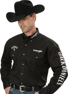 Wrangler Mens Jack Daniel's Shirt M Ed Black