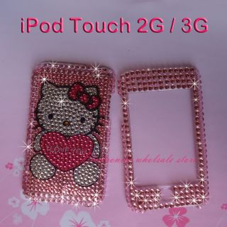 Full Rhinestone Bling Hard Skin Case Cover 4 iPod Touch 2nd&3rd 2G 3G