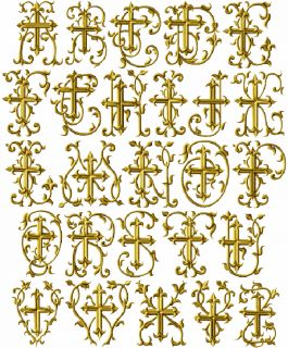 ABC Designs Christian Crosses Font Embroidery Design for 4x4 Hoop 2