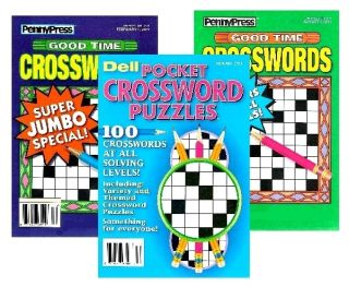 Penny Press Dell Crossword Puzzle Books x 3 MBG