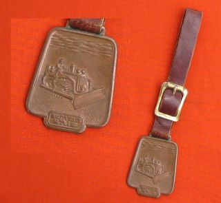 Vintage Advertising Watch Fob BUCYRUS ERIE BE 29 in Hoover IH TD 24
