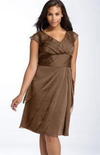 Adrianna Papell Chiffon Petal Gown (Plus)