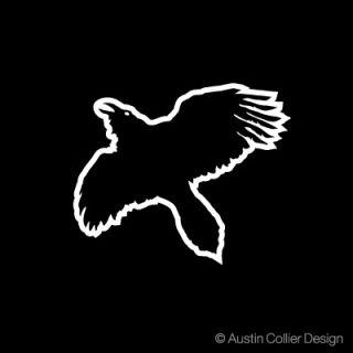 evil crow white vinyl decal