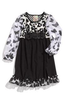 Twirls & Twigs Ruffled Animal Print Dress (Little Girls)