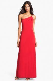 Calvin Klein One Shoulder Jersey Gown