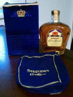 Seagrams Crown Royal Whiskey SEALED 1958