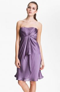 ML Monique Lhuillier Bridesmaids Strapless Drape Detail Charmeuse Dress ( Exclusive)