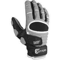 New Cutters 017LC Full Finger Adult Football Lineman Gloves Grey