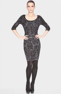 Marc New York by Andrew Marc Lace Print Sweater Dress