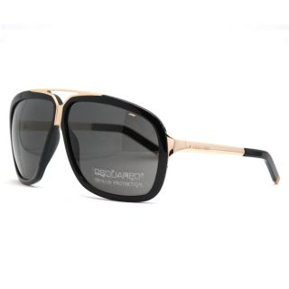 DSquared DQ 0030 S 01A Black Large Aviator Full Rim Sunglasses