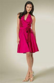 Lauren by Ralph Lauren Adriann Belted Halter Dress