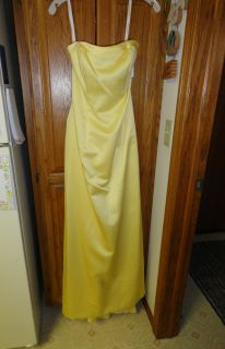 Davids Bridal Bridesmaid Dress Canary Yellow 2 Strapless