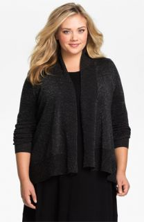 Eileen Fisher Shimmering Merino Wool Cardigan (Plus)