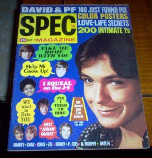 16 Spec Magazine 1971 David Cassidy Michael Jackson 5 Bobby Sherman