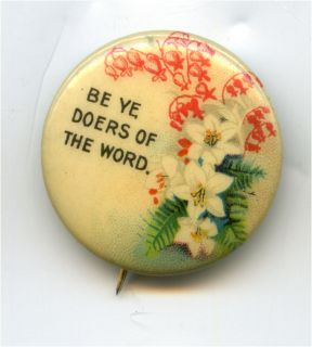 CELLO BIBLE VERSE PIN BE YE DOERS OF THE WORD backpaper David Cook