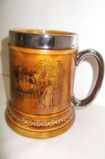 VINTAGE LORD NELSON POTTERY STEIN, MUG,TANKARD   COACHING DAYS