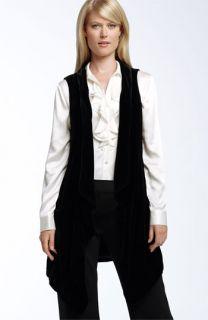 Lafayette 148 New York Jessie Long Velvet Vest