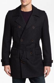 Ted Baker London Normac Wool Blend Trench Coat