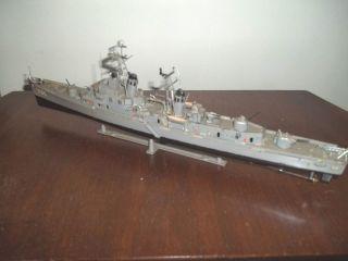 John Paul Jones 932 Destroyer Revell 1971 Model Ship Kit Built w tie