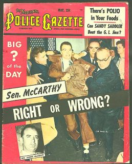 Police Gazette Sen Joe McCarthy Sandy Saddler 5 1954