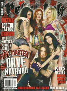 Magazine April 2012 Ink Master Dave Navarro Tattoo Art Flash