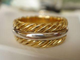 David Yurman Solid 18 K Gold Thoroughbred Mens Ring