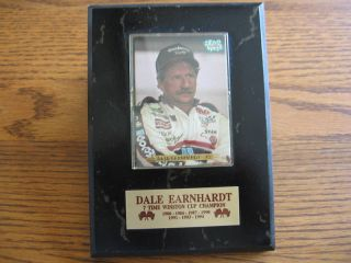DALE EARNHARDT 7 TIME WINSTON CUP CHAMPION WALL PLAQUE 5 INCES BY 7