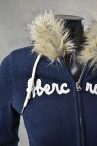 Abercrombie Fitch Womens Hoodies New Soft Fur Lined Hoodie Jacket Sz S