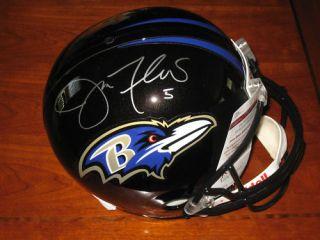 Joe Flacco 5 signed Baltimore Ravens Full Size NFL Helmet JSA FS