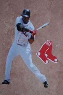 David Ortiz Mini FATHEAD 7 + Boston Red Sox Logo Official Vinyl Wall