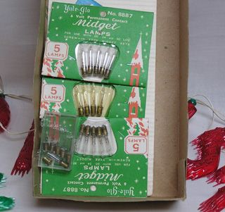 Vintage Christmas Boxed Set of Garland Lights That Spell Merry
