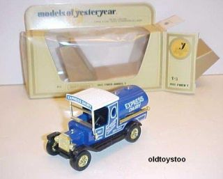 1912 model t ford dairy tanker matchbox y3 mib 1978