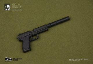 Hot 1 6 Dam Toys TOS Navy Seal Pointman SOCOM Pistol for Action Figure