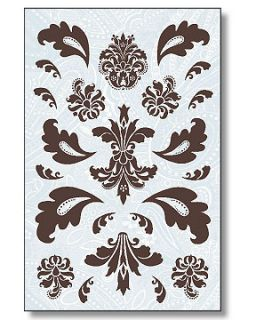 New Paisley Damask Toile Designs Self Adhesive Wallies Deco Decal